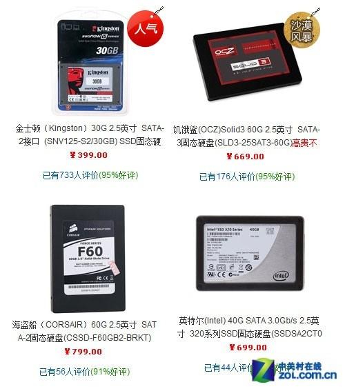 京东SSD固态硬盘销量排行
